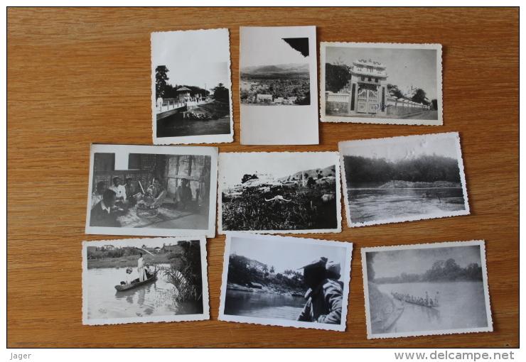 9 Photos Indochine Française  Mekong  Vers 1950 - Ethniques, Cultures