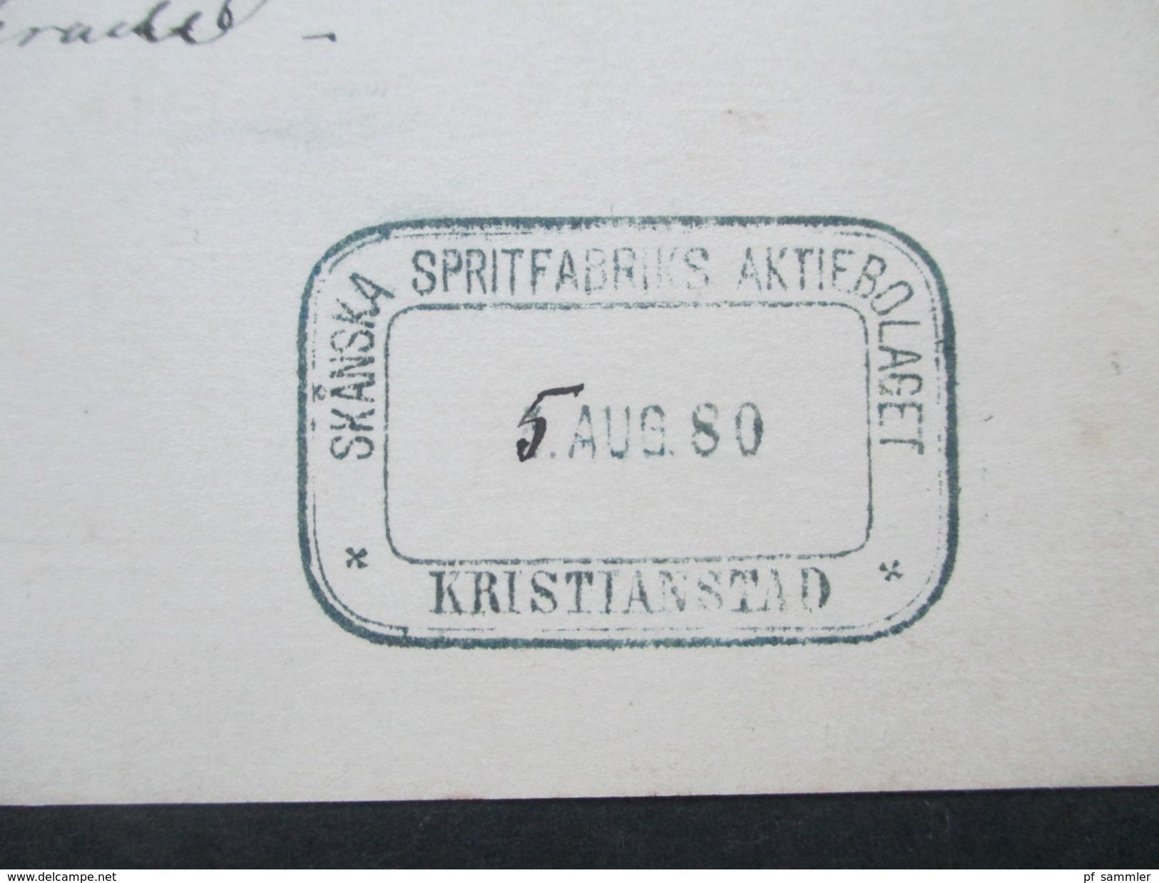 Schweden 1980 Ganzsache Brefkort. Sex Öre. Alkohol. Skanska Spritfabriks Aktiebolaget - Schweden