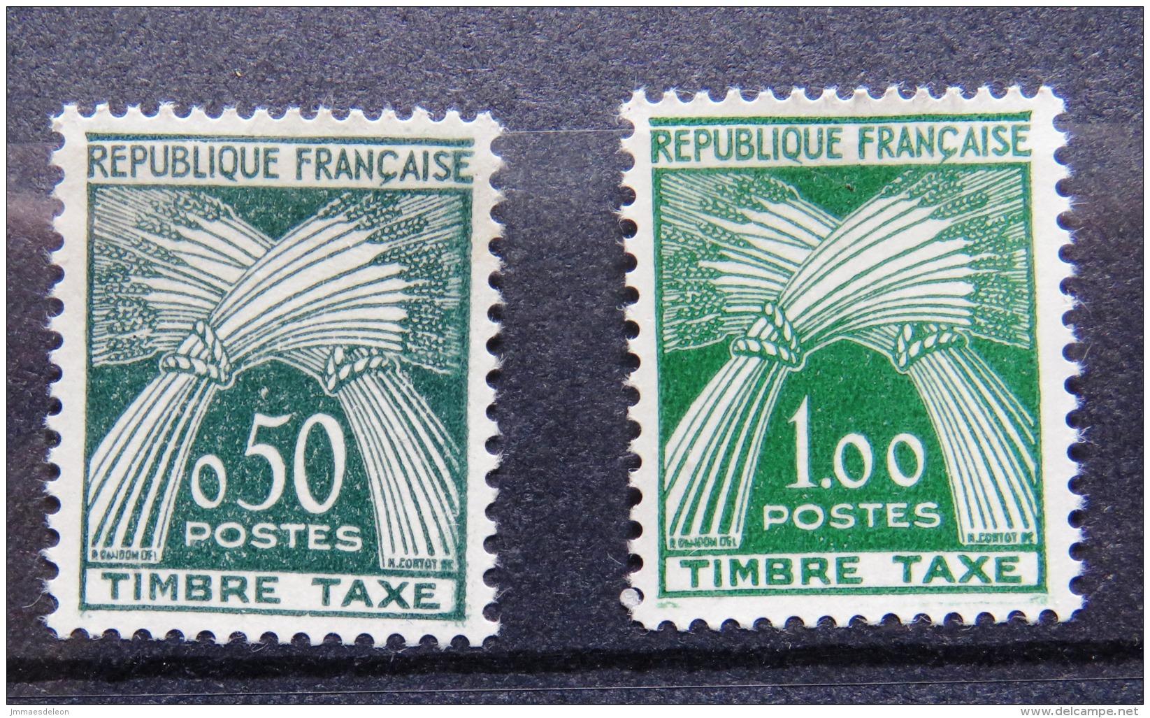 France 1960 Taxe - Postage Due - Mint - Full Gum - Gerbes De Ble - Wheat (cote 60 Euros) - Set De 4 Timbres - 4 Val. - Postage Due
