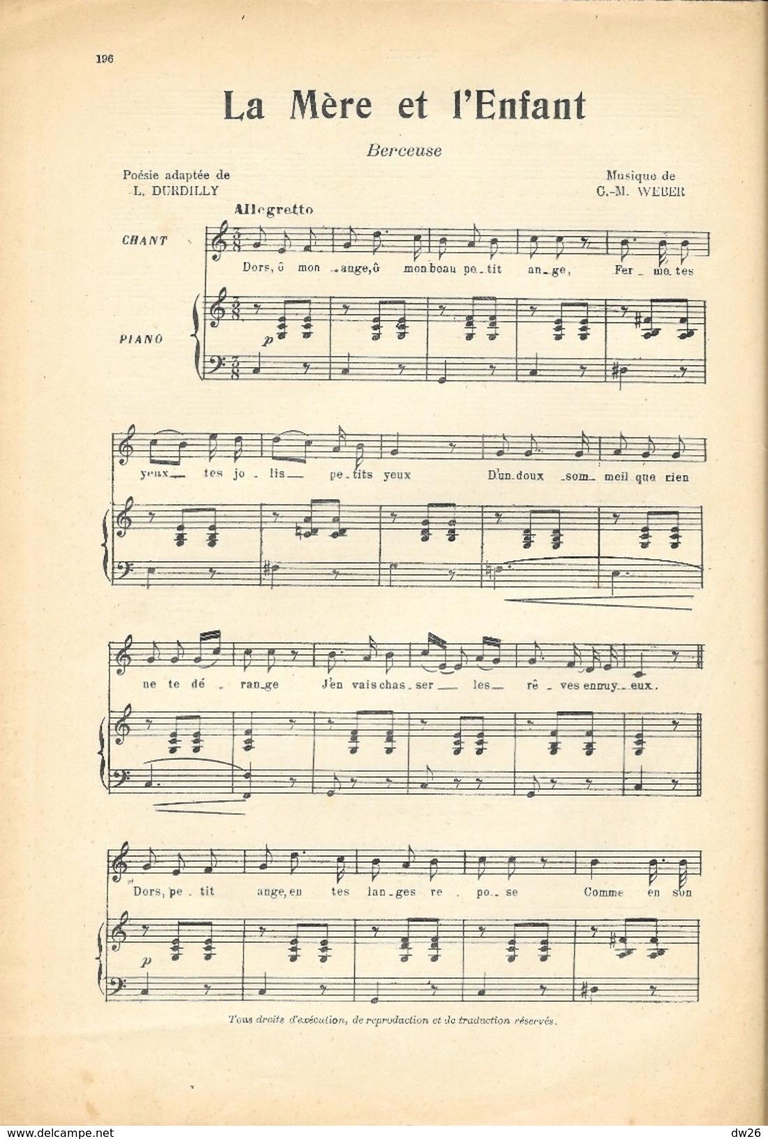 Journal De Musique N° 51 (Piano Et Chant) Avec Partitions: Rondel, La Mère Et L'Enfant (Berceuse), Liaison Dangereuse - Journaux - Quotidiens
