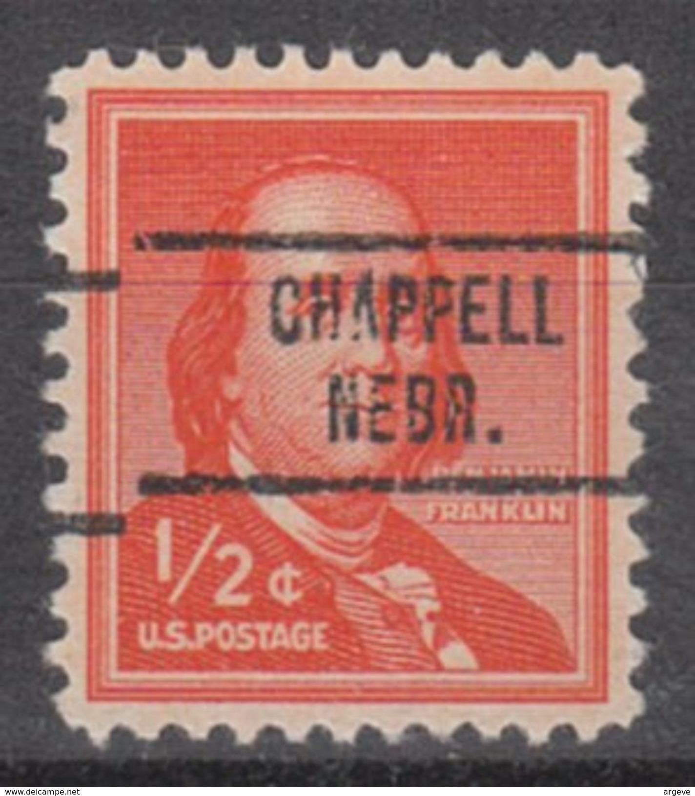 USA Precancel Vorausentwertung Preo, Locals Nebraska, Chappell 734 - Vereinigte Staaten