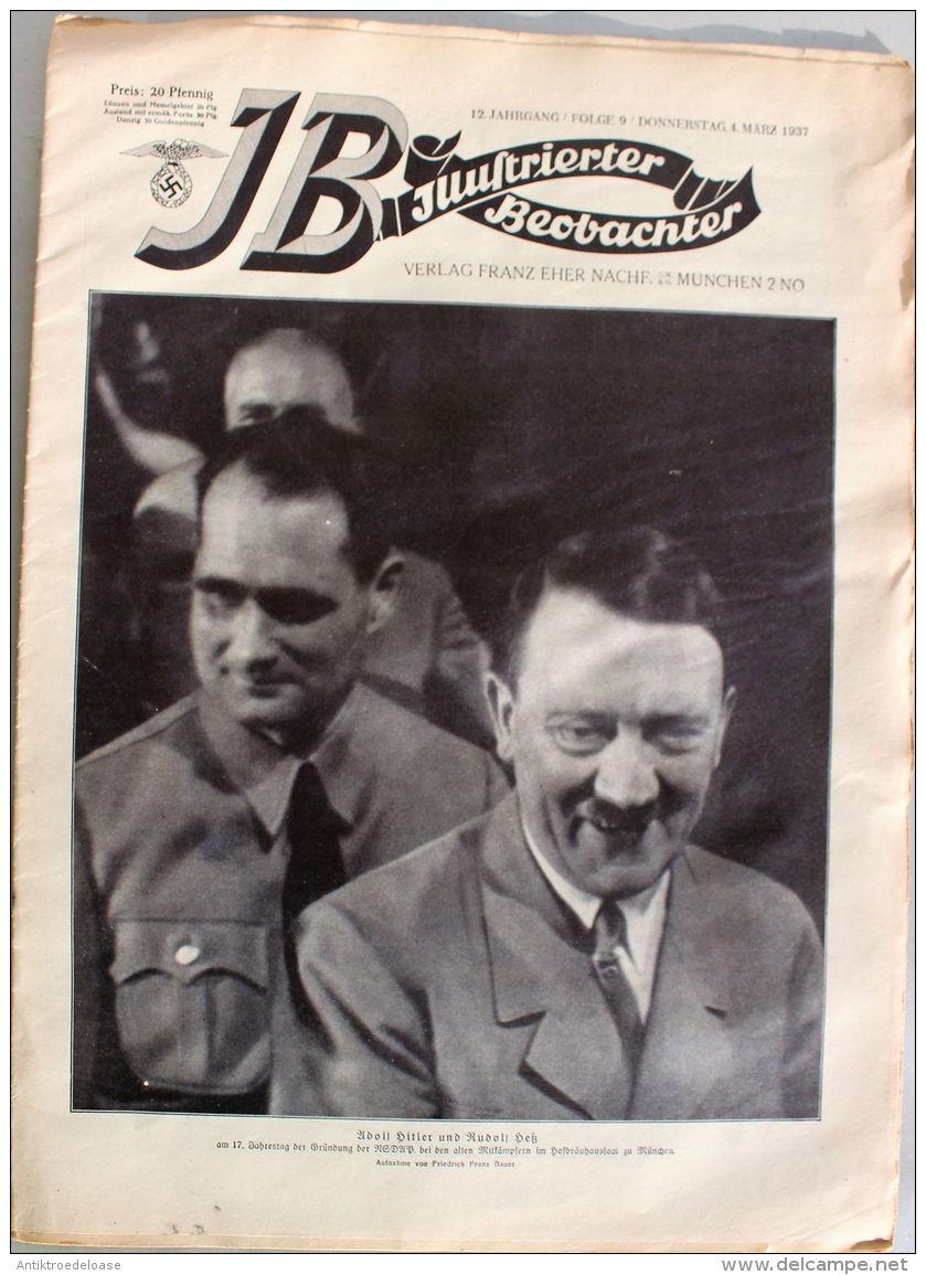 Zeitung Illustrierter Beobachter 1937 Nr.9 Der Führer Beim Gründungstag Der NSDAP - Deutsch