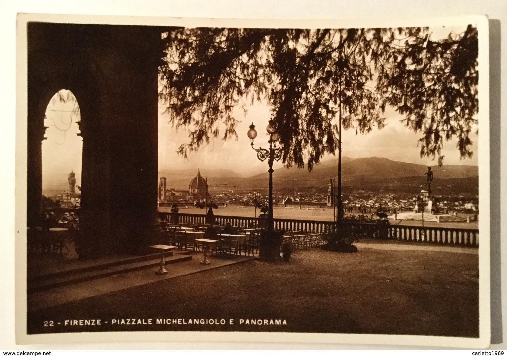 FIRENZE - PIAZZALE MICHELANGELO E PANORAMA VIAGGIATA FG - Firenze