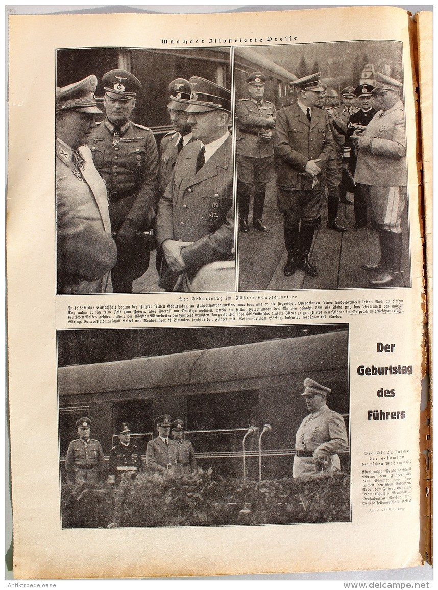 Münchner Illustrierte Presse 1941 Nr.18 Gebirgsjäger Nach Einer Erstürmung - Deutsch
