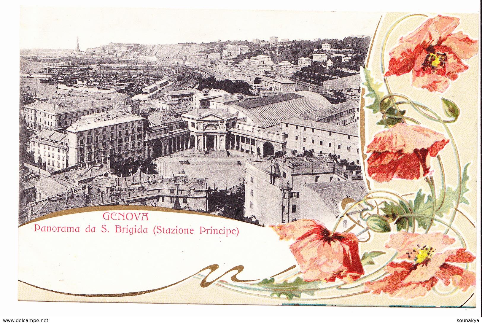 §§§ GENOVA-Panorama Da S.Brigida (Stazione Principe) §§§ - Genova (Genoa)