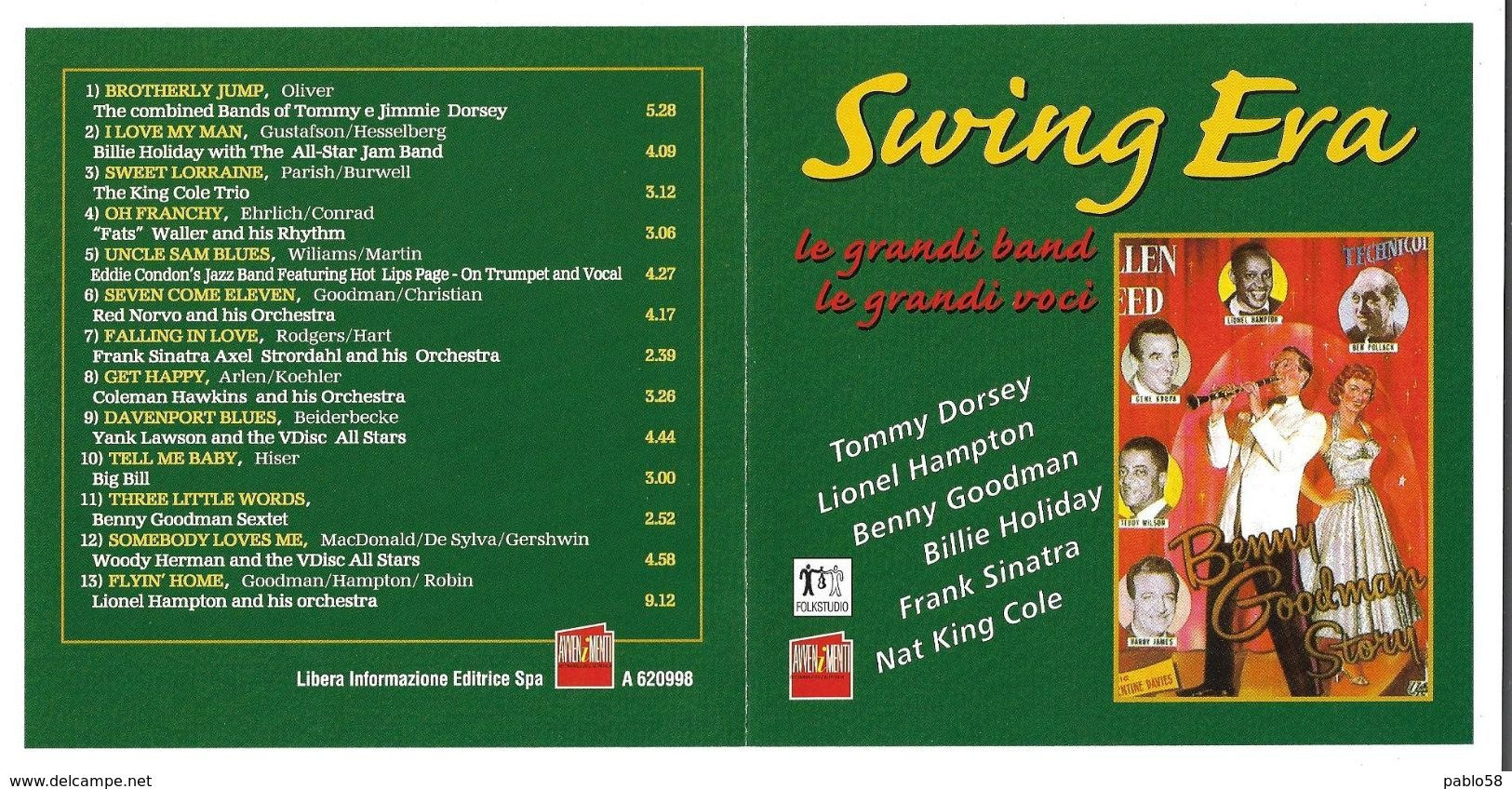 Swing Era Tommy Dorsey - Lionel Hampton - Benny Goodman - Billie Holiday - Frank Sinatra - Nat King Cole - Musik & Instrumente