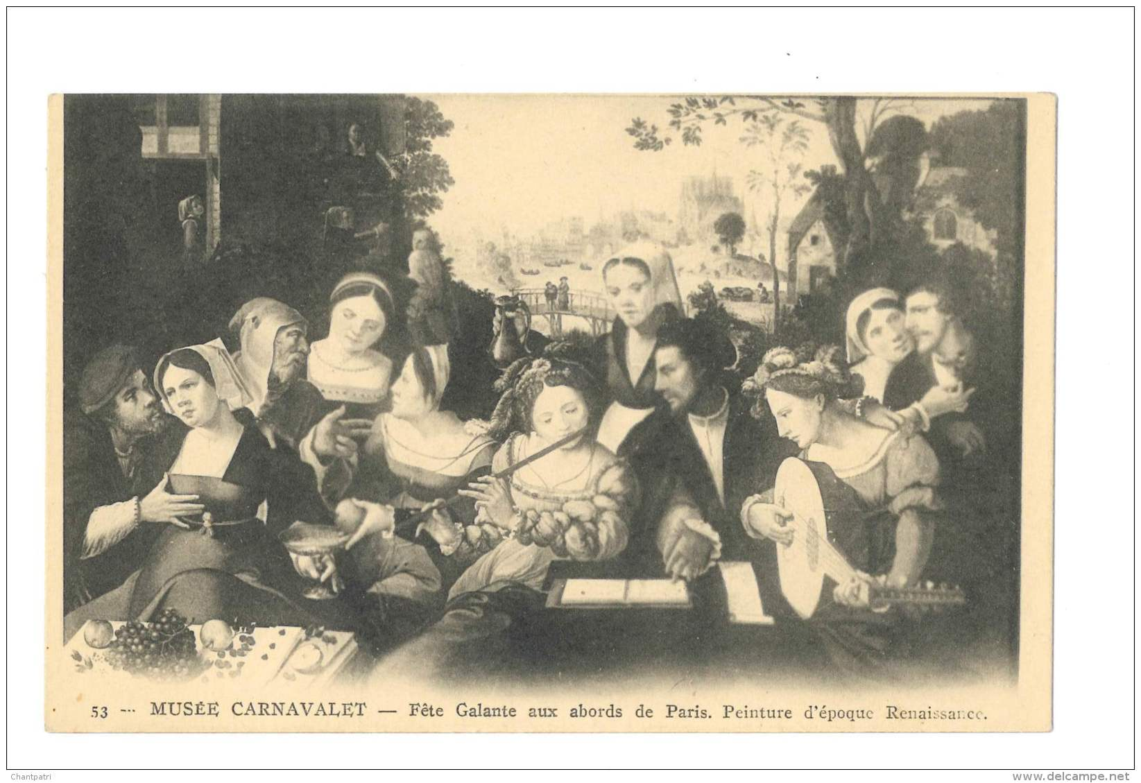 Musée Carnavalet - Fête Galante Aux Abords De Paris - Peinture D'époque Renaissance - 2916 - Peintures & Tableaux