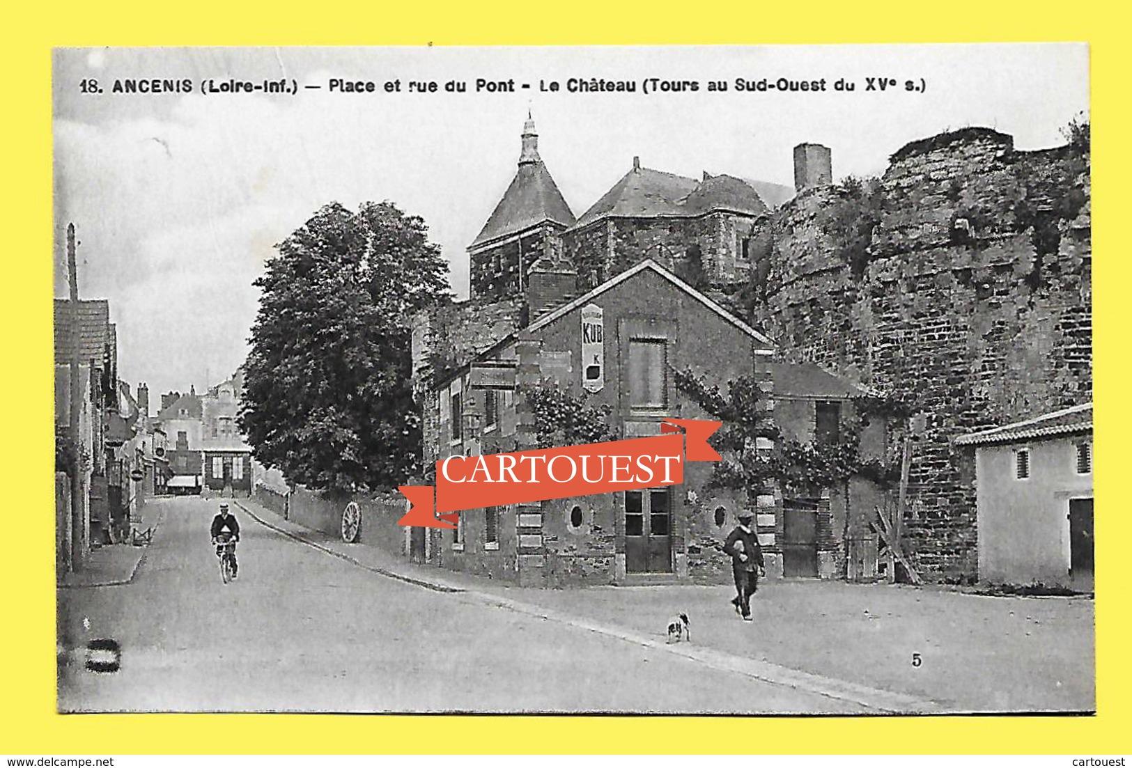 CPA 44 ANCENIS Place Et Rue Du Pont 1931 - Ancenis