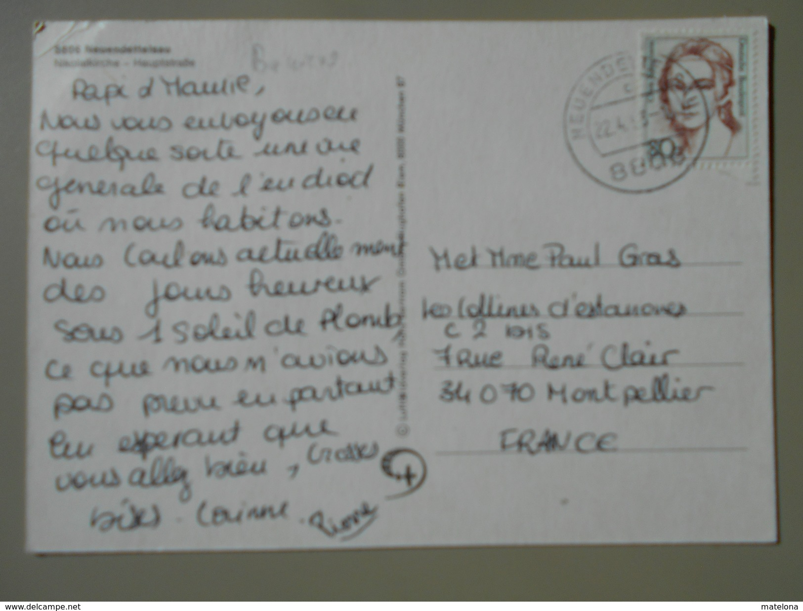 ALLEMAGNE BAVIERE NEUENDETTELSAU NIKOLAIKIRCHE HAUPTSTRASSE - Neuendettelsau