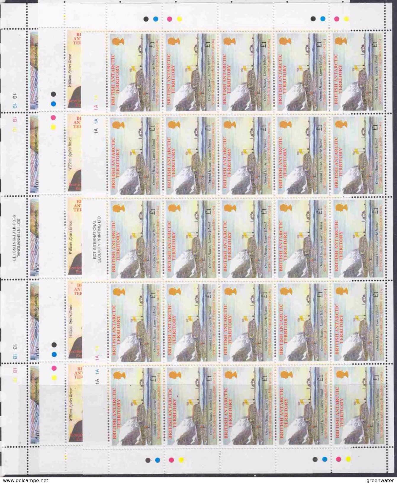 British Antarctic Territory 2001 Scottish National Antarctic Expedition 6v Sheetlets (unfolded)  ** Mnh (F6720) - Ongebruikt