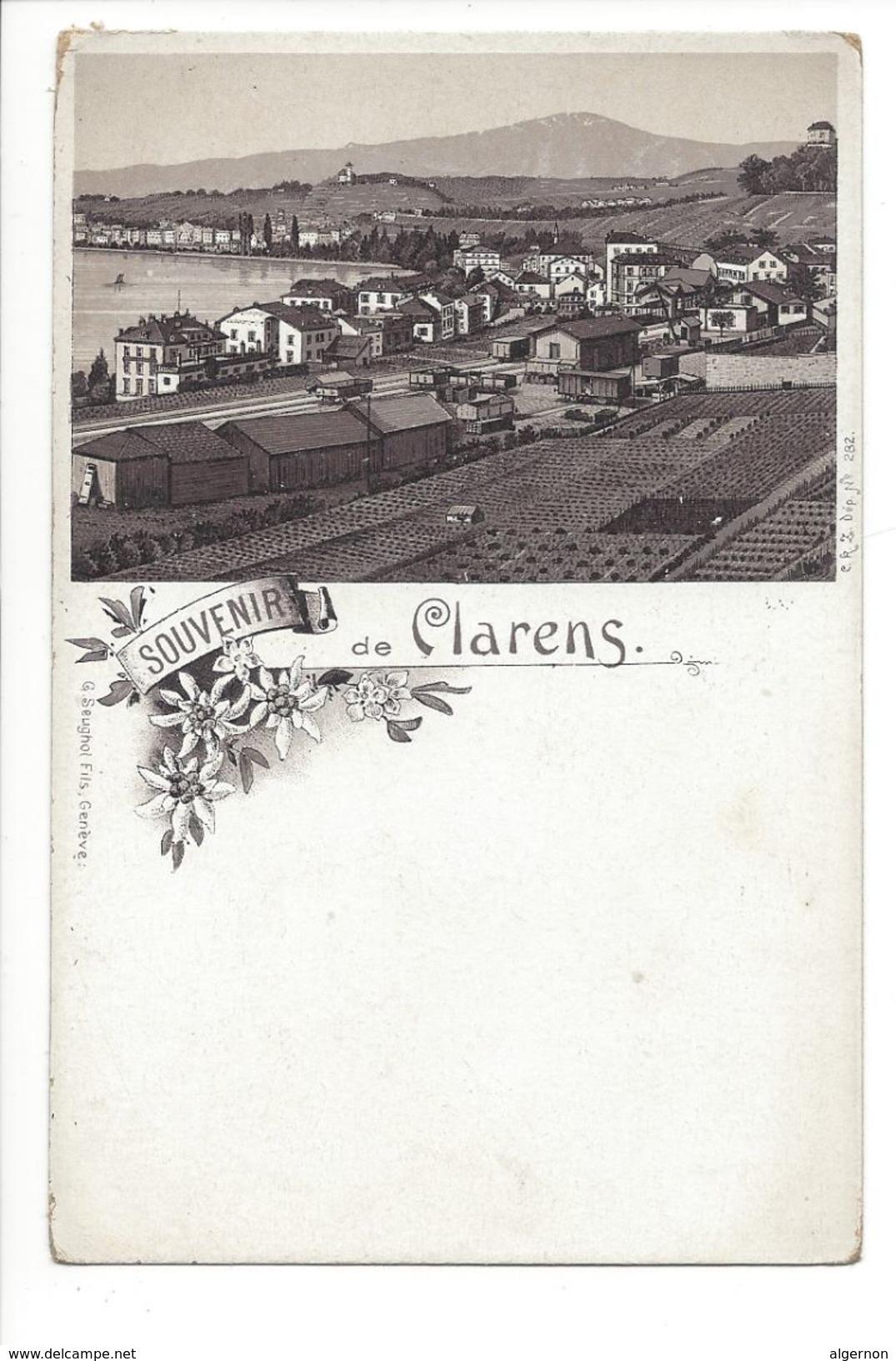 17763 -  Souvenir De Clarens La Gare - VD Vaud