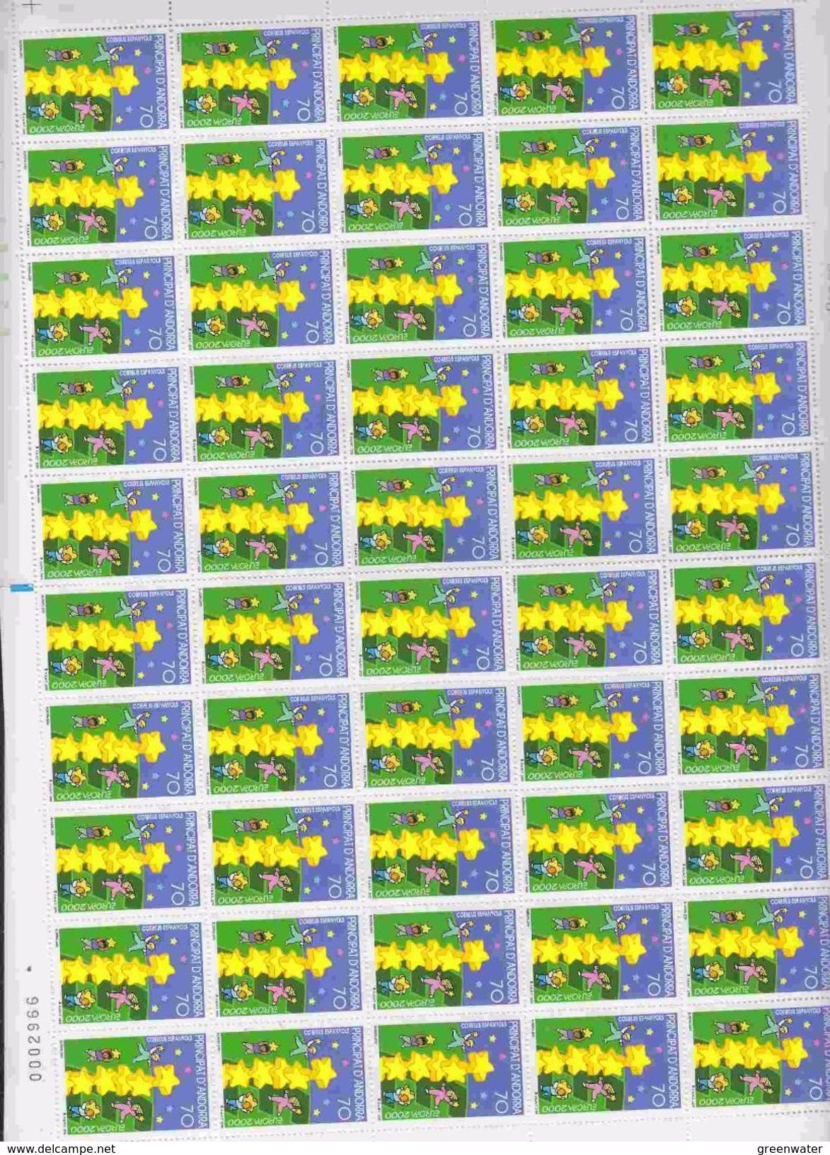 Europa Cept 2000 Andorra Sp 1v Sheetlet (shtlt Is 1x Folded) ** Mnh (F6727) - Europa-CEPT