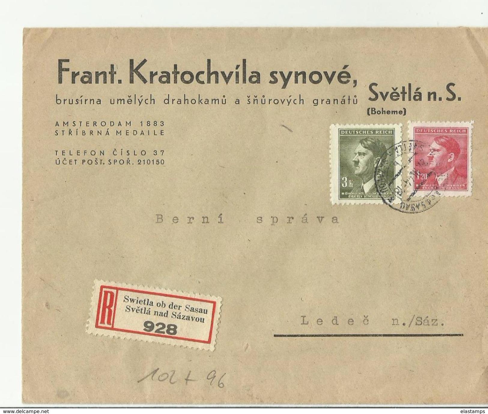 B&M 1944  R-CV Svetla Nad Sazavou - Brieven En Documenten
