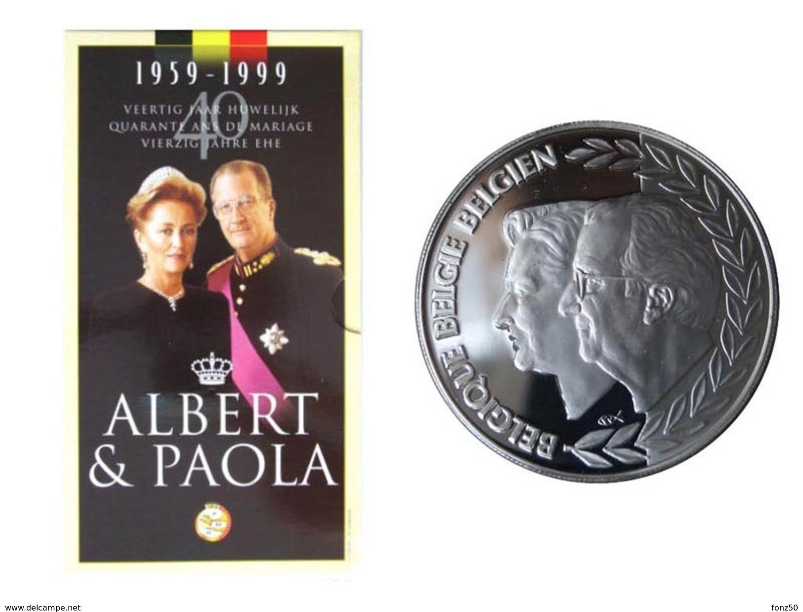 ALBERT II * 250 Frank 1999    ALBERT & PAOLA * QP - BLISTER * Nr 9716 - 07. 250 Francs