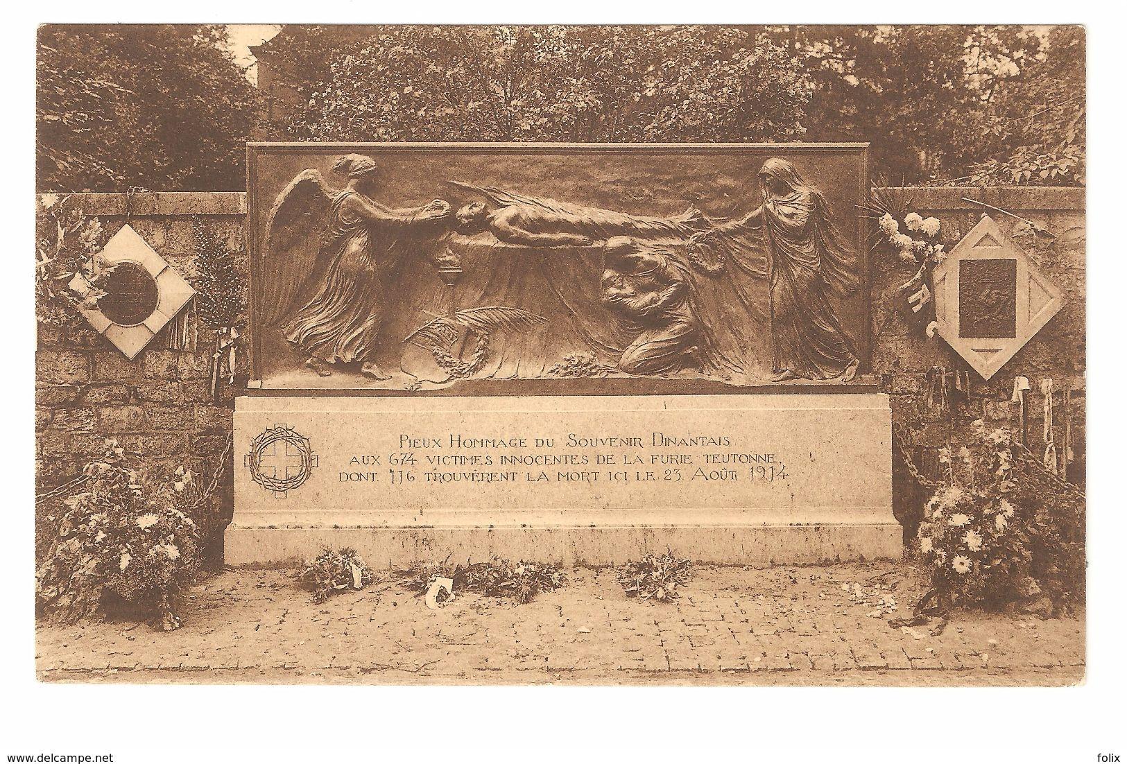 Dinant - Mur Tschoffen - 116 Dinantais Y Furent Fusillés Par Les Hordes Saxonnes Le 23 Août 1914 - Dinant