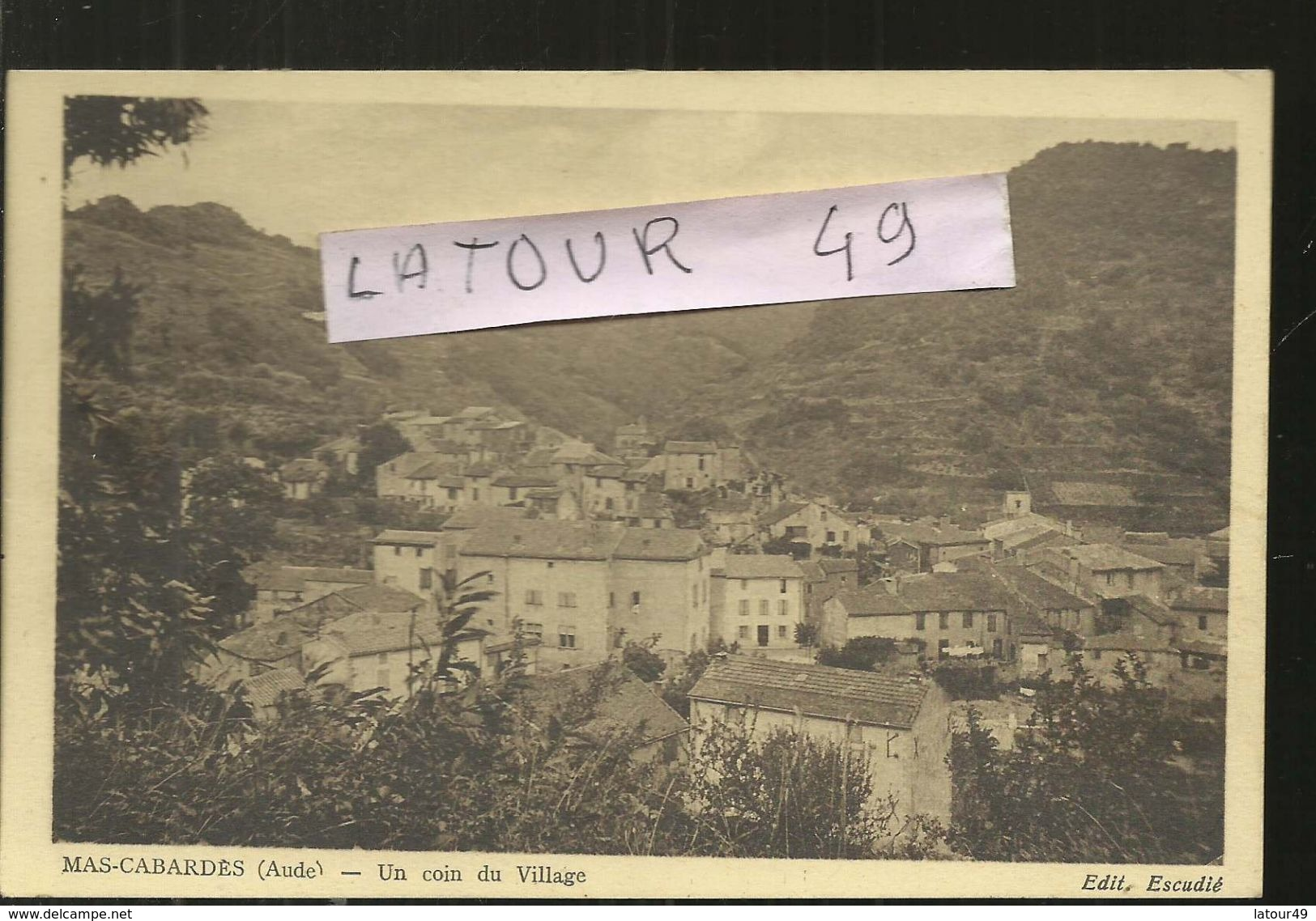 MAS-CABARDES  UN COIN DU VILLAGE 1945 - Other Municipalities