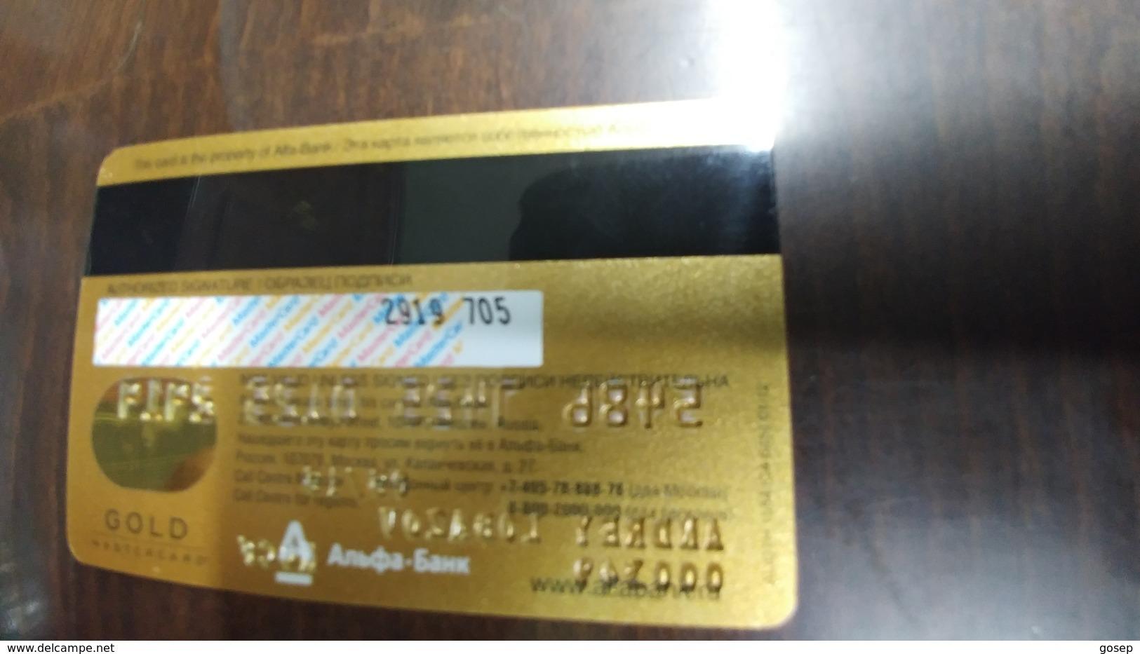 Russia-credict Card-(68)-(2919-705) - Geldkarten (Ablauf Min. 10 Jahre)