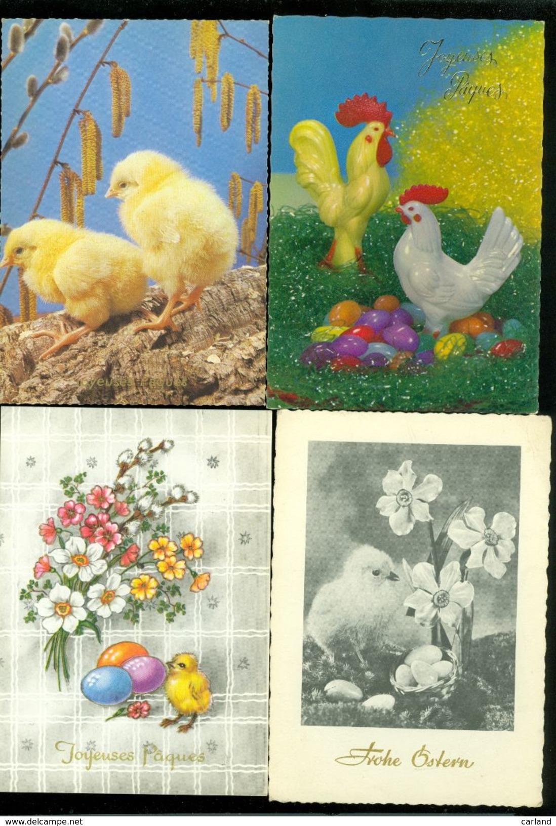 Beau Lot De 60 Cartes Postales S.- M. Grand Format De Fantaisie  Pâques     Mooi Lot Van 60 Postkaarten Fantasie  Pasen - Cartes Postales