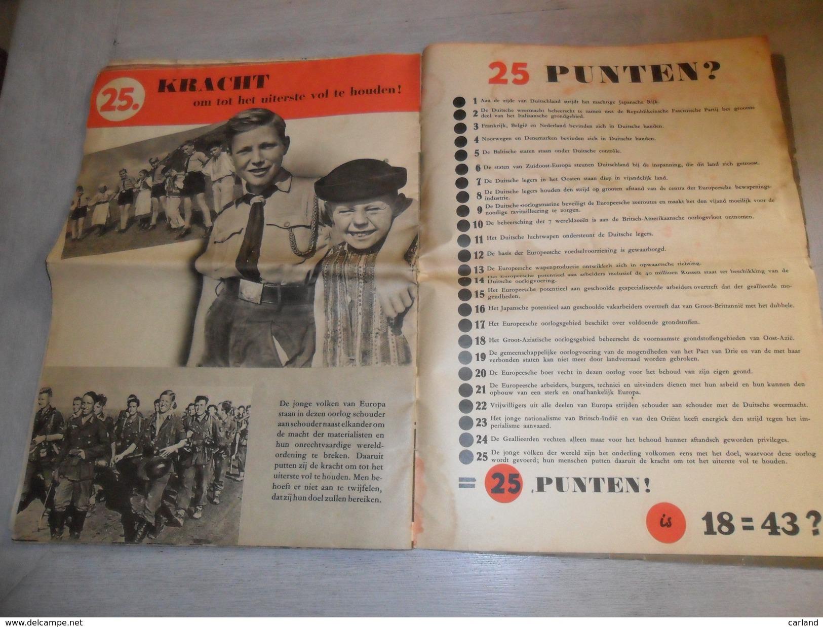 25 Punten Tot Oorlog ( Guerre ) 1943 - Wehrmacht  Oostfront - Landen In Duitsche Handen - Oorlog 1939-45