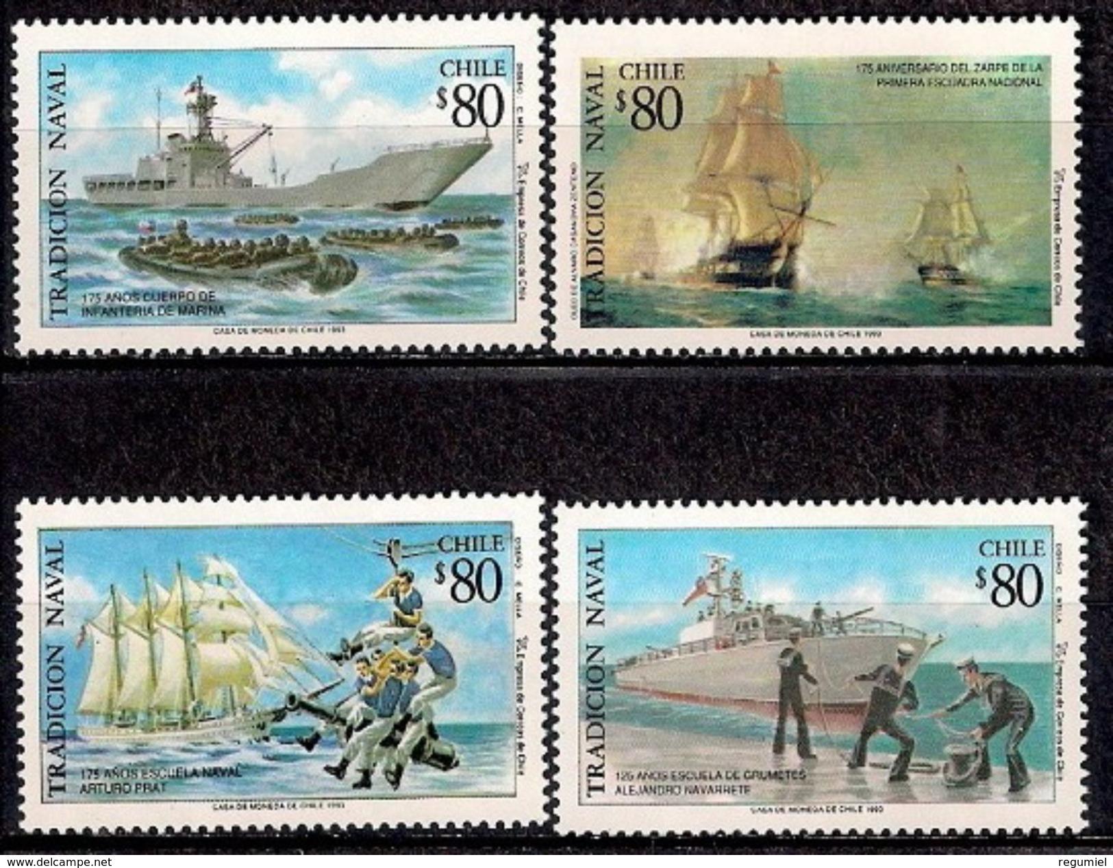 Chile 1185/1186 ** MNH. 1993 - Chile