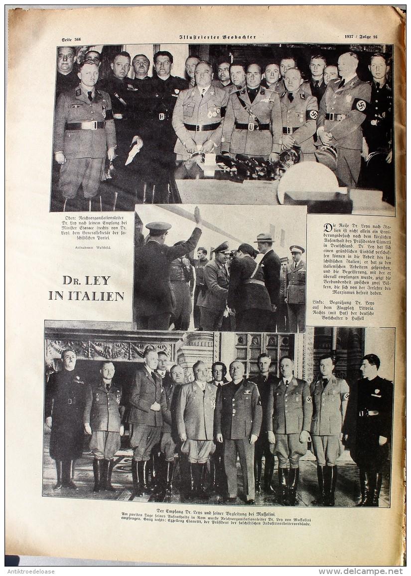 Illustrierter Beobachter 1937 Nr.16 Zum Dankopfer Der Nation - Deutsch