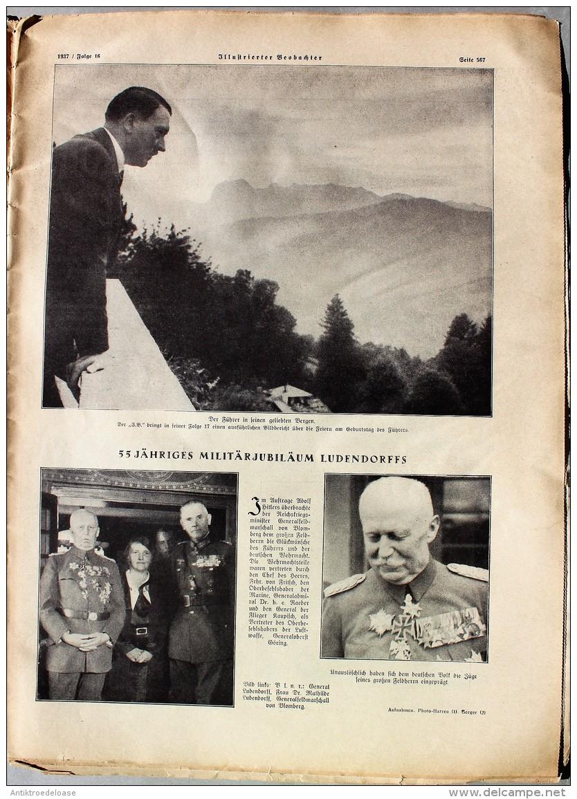 Illustrierter Beobachter 1937 Nr.16 Zum Dankopfer Der Nation - Zeitungen & Zeitschriften