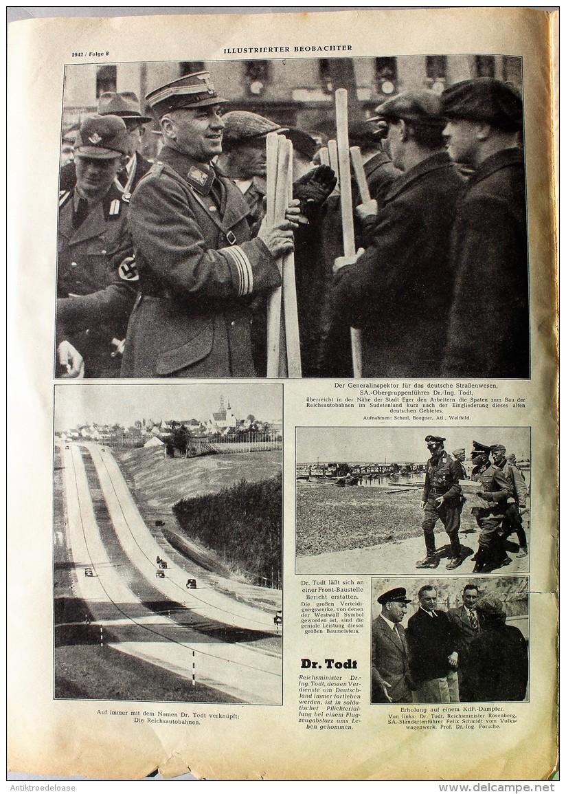 Illustrierter Beobachter 1942 Nr.8 Mittagsrast - Zeitungen & Zeitschriften