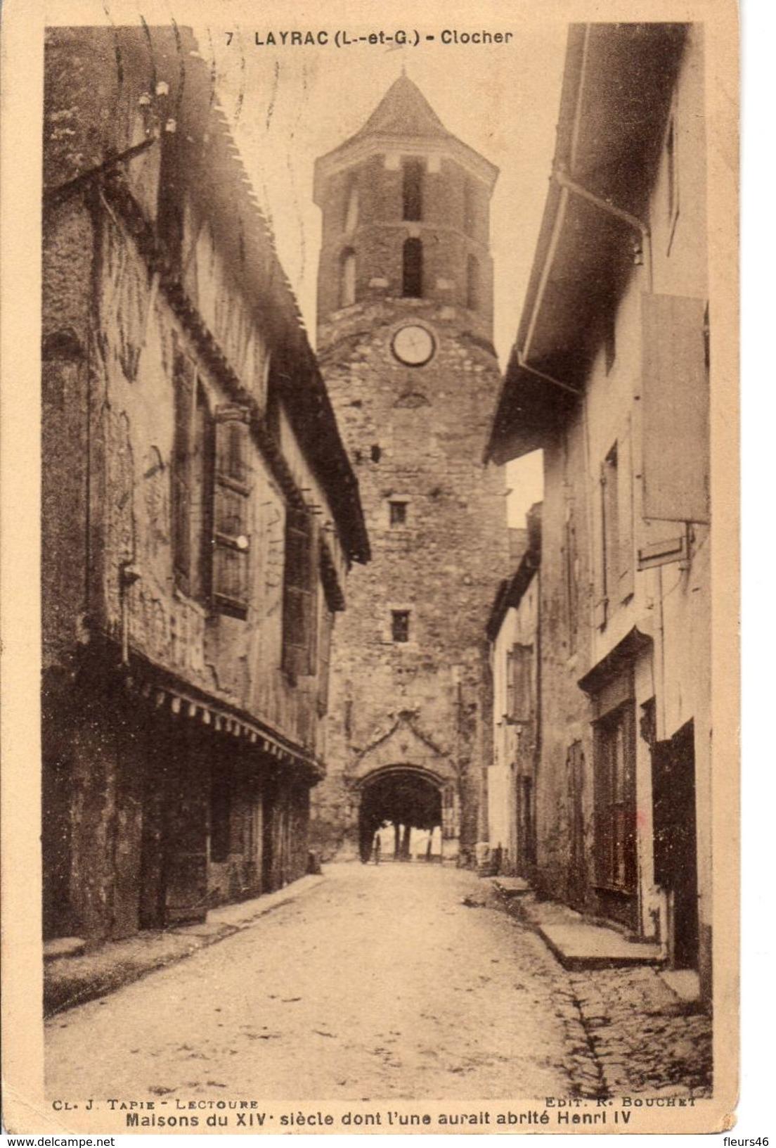 -47- LAYRAC - Clocher Et Maisons Du XIV° Siècle - France