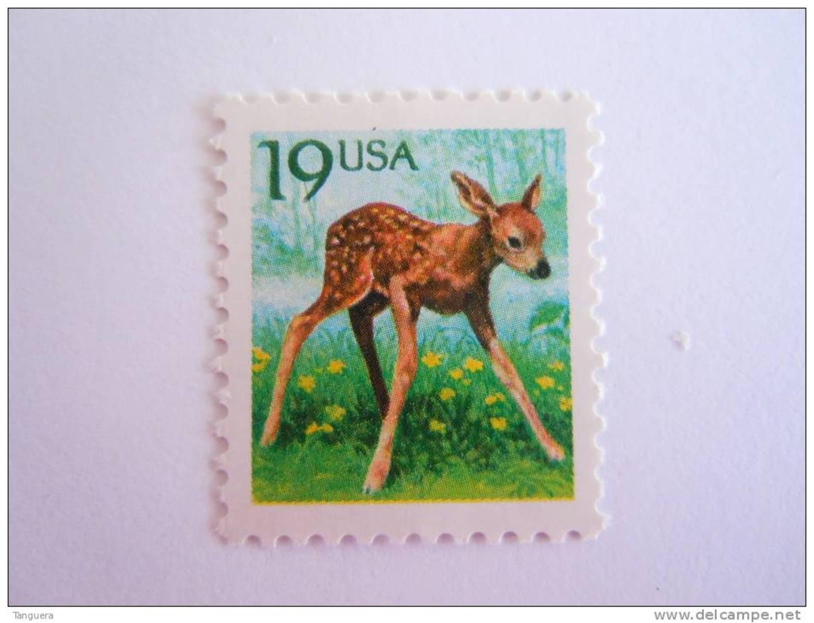 USA 1991 Ree Faon Bambi Yv 1931 Mi2122 MNH ** - Vereinigte Staaten