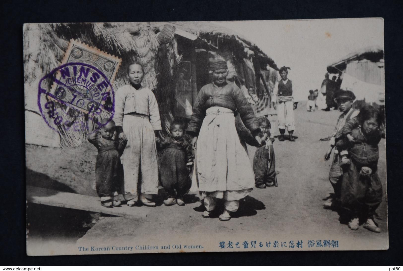 COREE Korean Country Children And Old Women Voyagé 1913 - Corée Du Sud