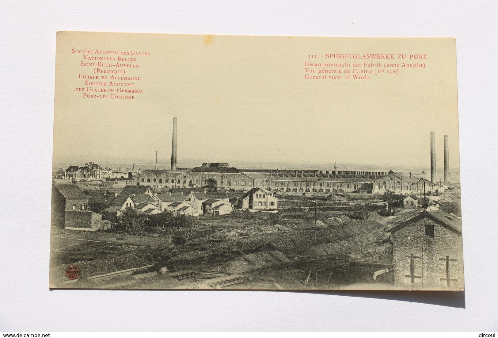 36766 - Porz-lez-Cologne Vue  Générale De L'usine Filiale En  Allemagne  De  Saint-Roch   Auvelais - Koeln