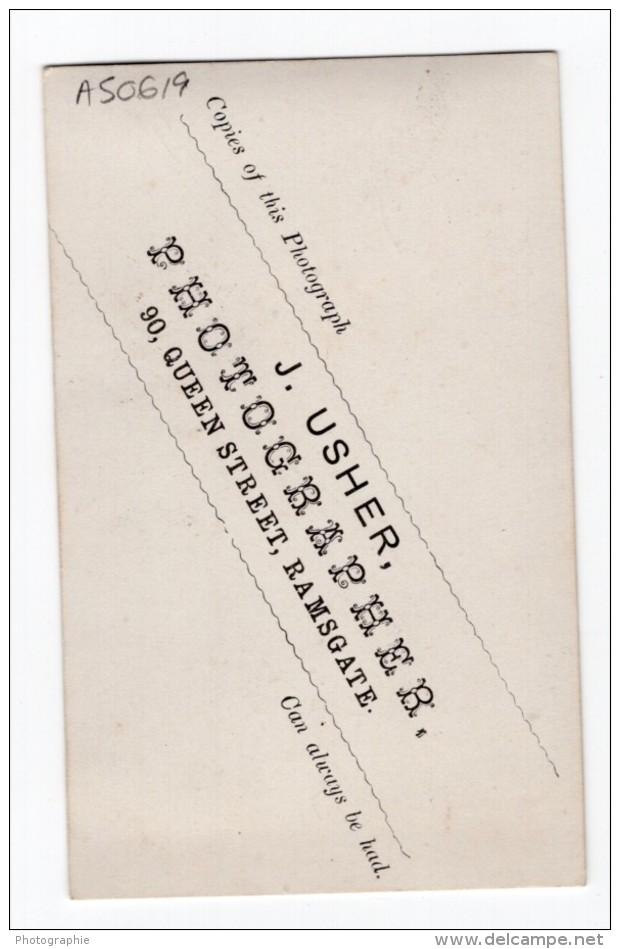 Ramsgate Homme Anglais Mode Victorienne Ancienne Photo CDV J. Usher 1880 - Photographs