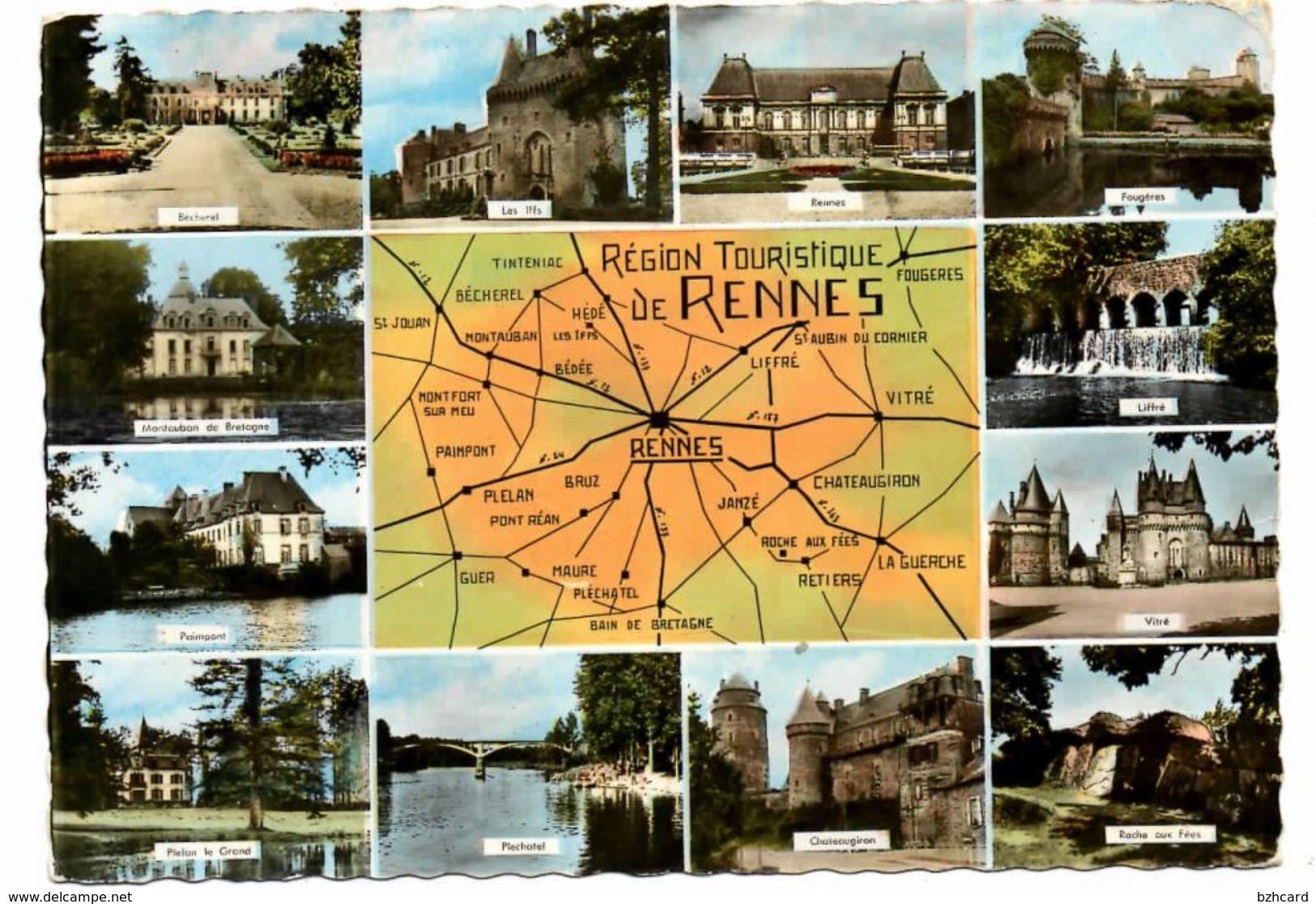 Paimpont, Plelan Le Grand, Plechatel, Chateaugiron,Vitré, Liffré, Les Iffs, Rennes , Bécherel, Liffré, Fougères - Fougeres