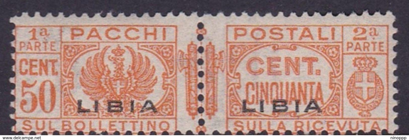 Italy-Colonies And Territories-Libya PP 5 1915-24 Parcel Post,50c Orange, Mint Hinged - Libya