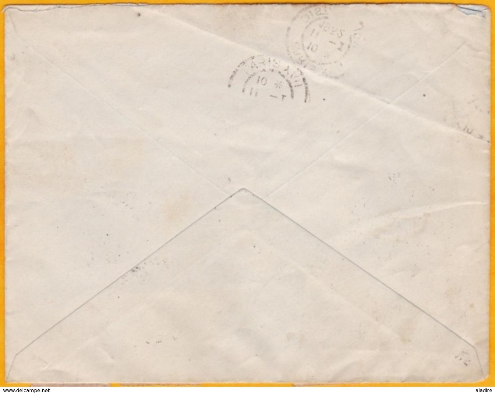 31 Décembre 1931 - Enveloppe De Valparaiso Par Avion Vers Paris - Via Ligne Mermoz - Cad Transit Et Arrivée - Chile