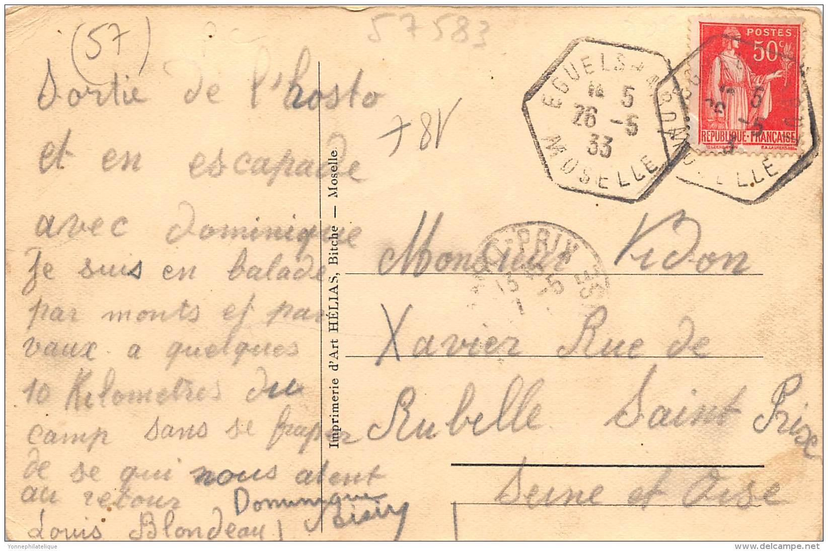 57 - MOSELLE / 57583 - Bannstein - Restaurant Douvernelle - Other Municipalities