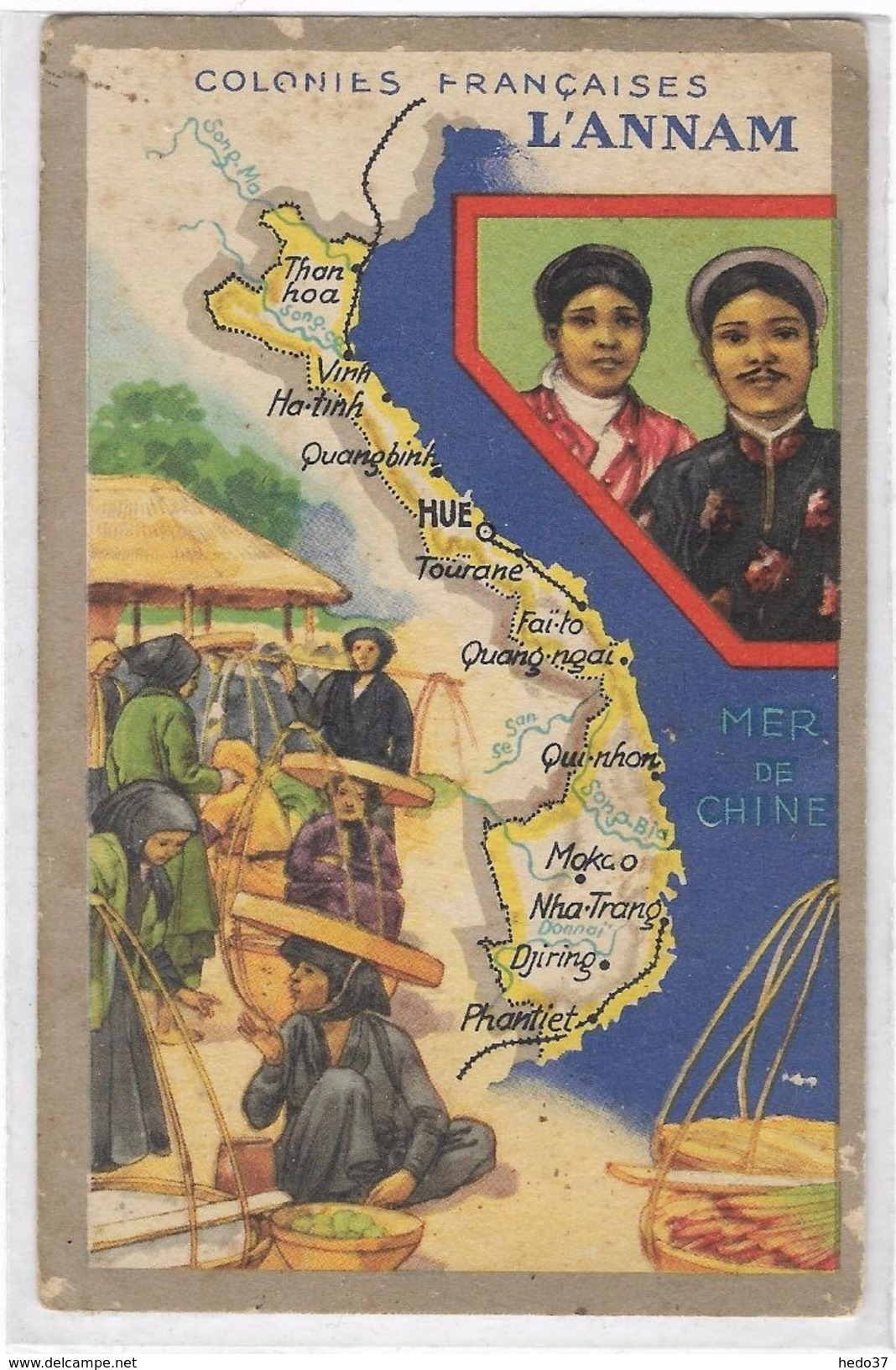 Asie - Annam - Cartes Postales