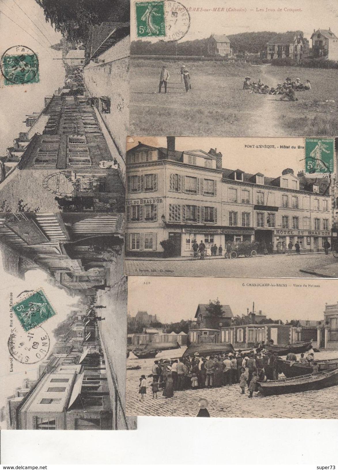 Beau Lot De 30 Cartes Postales Anciennes Calvados Département 14 Dont Nombreuses Animations - Cartes Postales