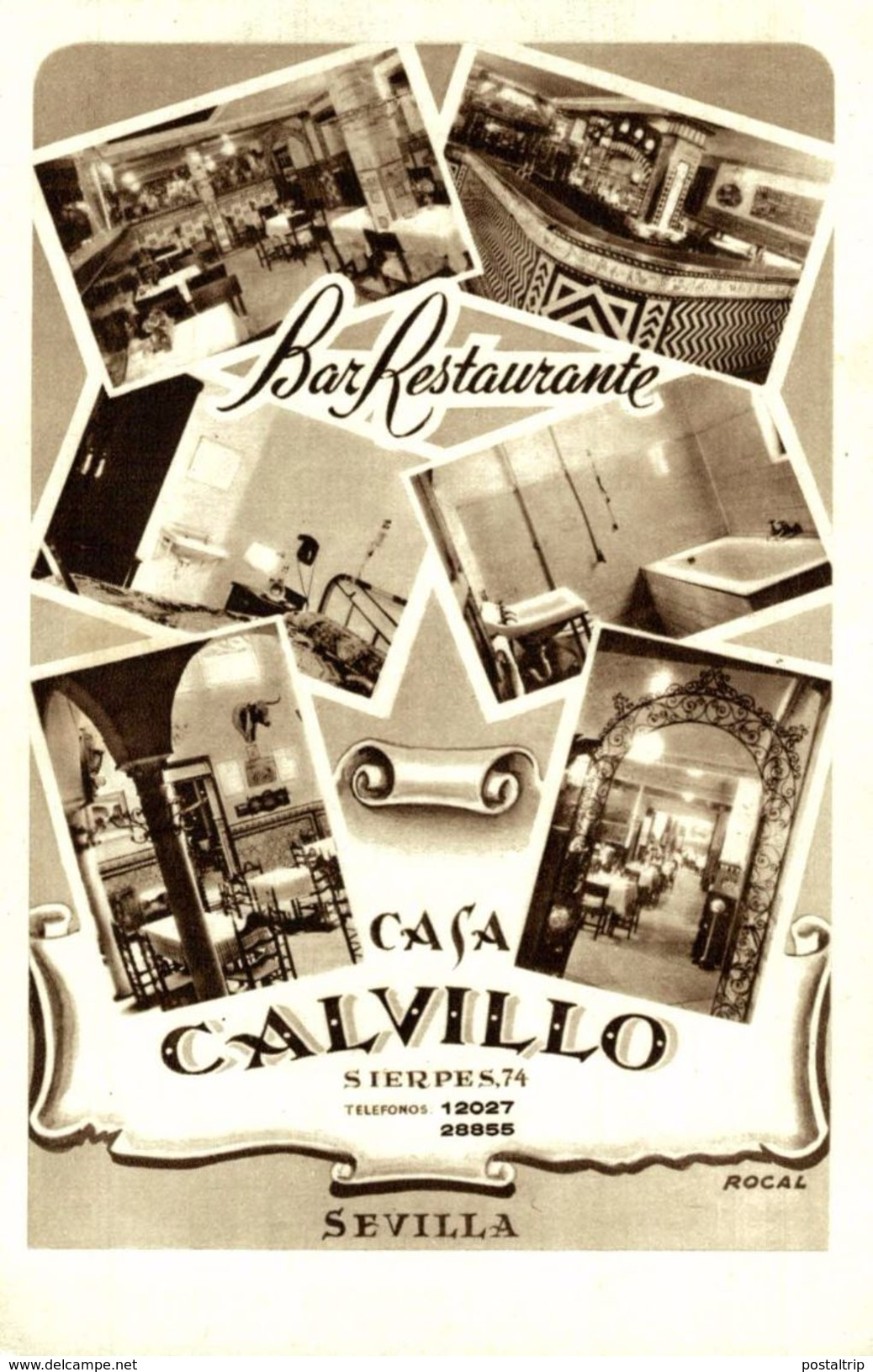 SEVILLA. BAR RESTAURANTE CASA CALVILLO - Sevilla