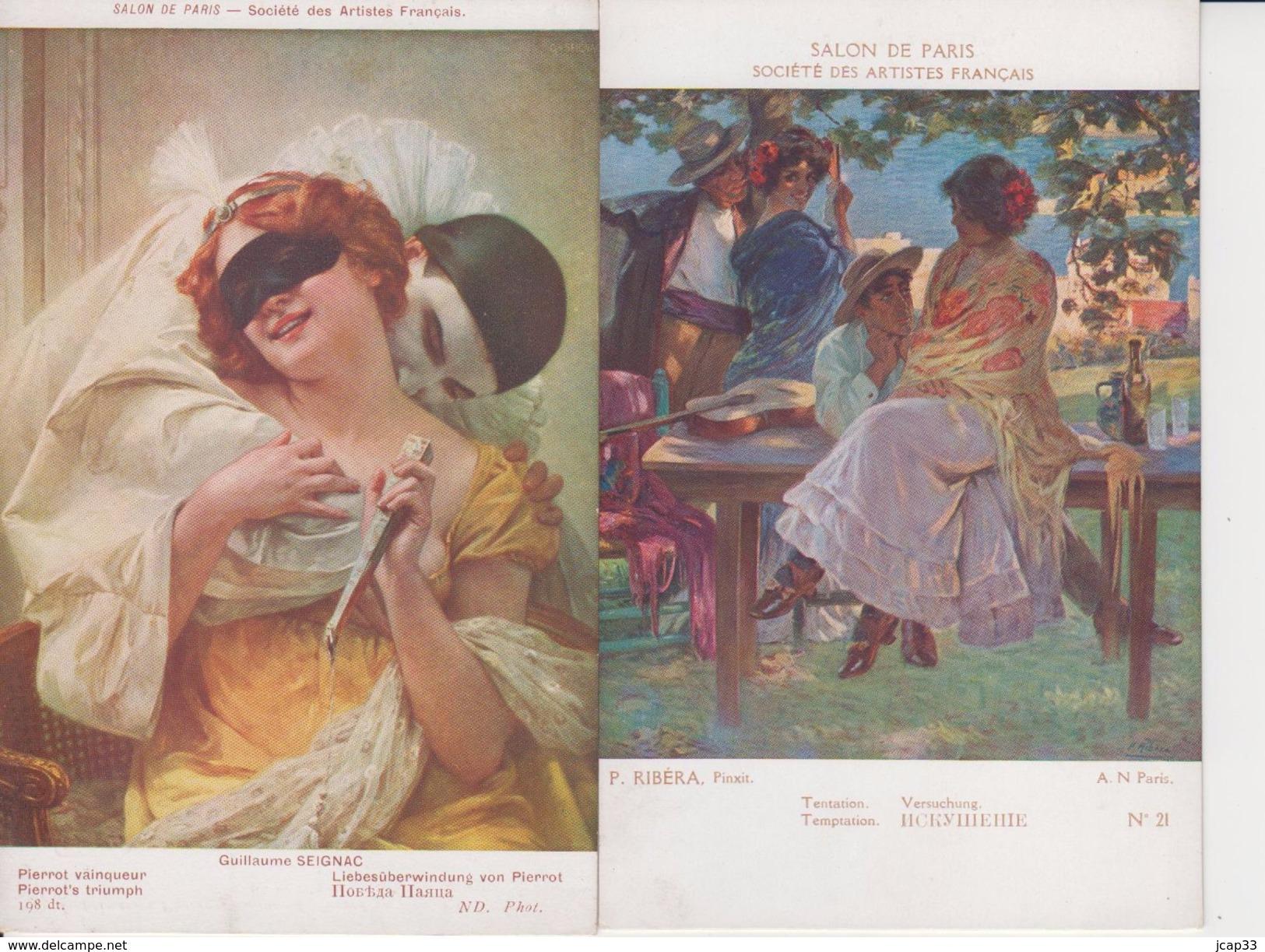SALON DE PARIS  -  LOT DE 5 CARTES  -  Non écrites  - - Cartes Postales