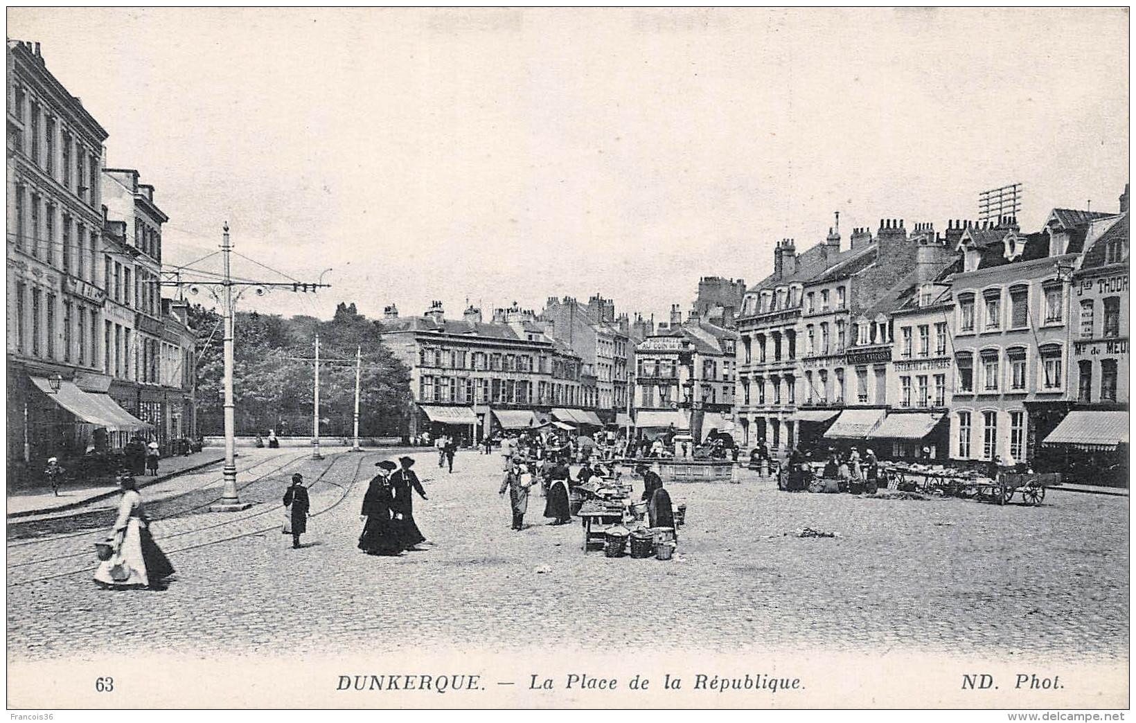 (59) Dunkerque - La Place De La République - Dunkerque