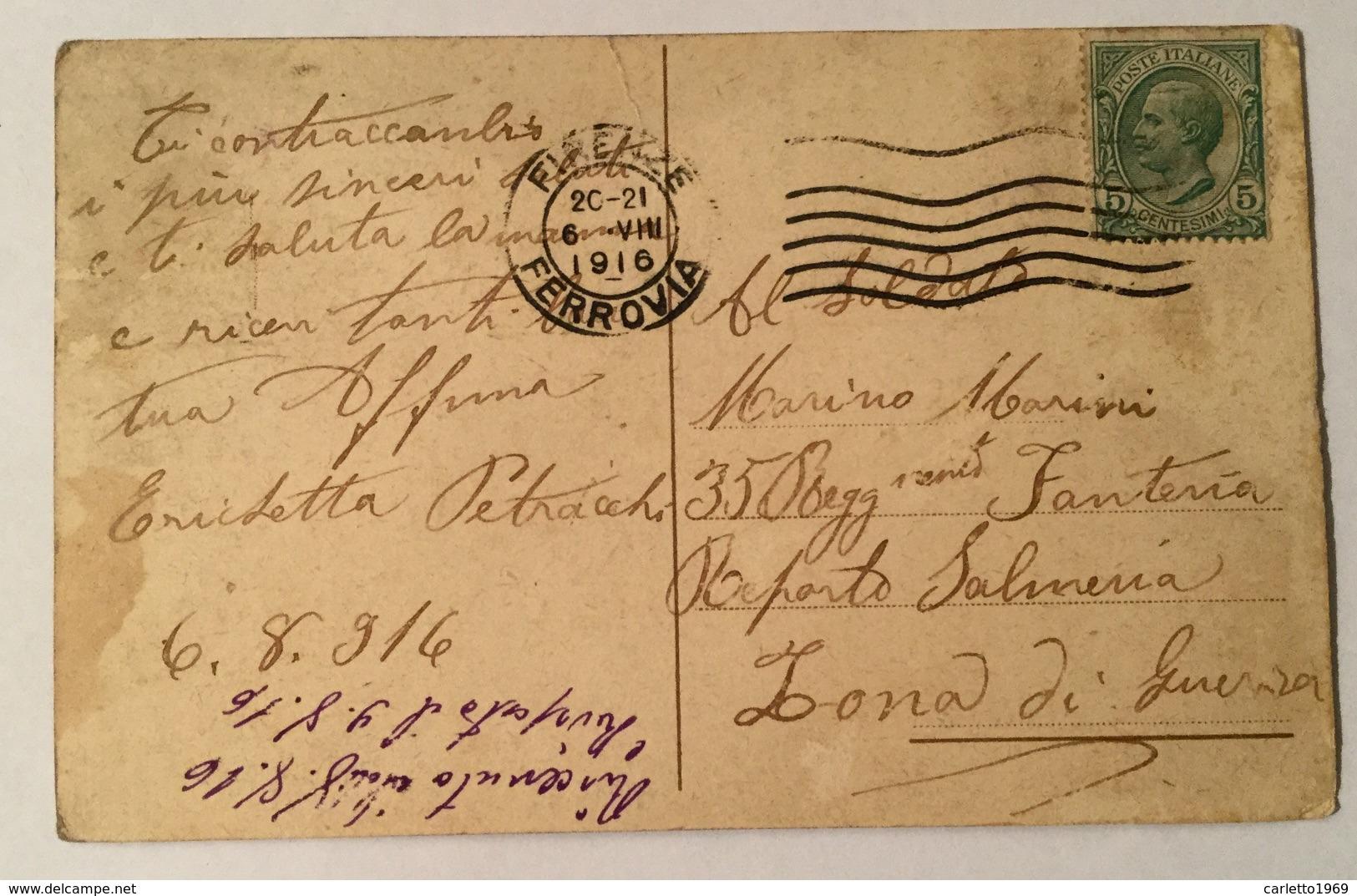FIRENZE PALAZZO VECCHIO - IL CORTILE  1916 VIAGGIATA FP - Firenze