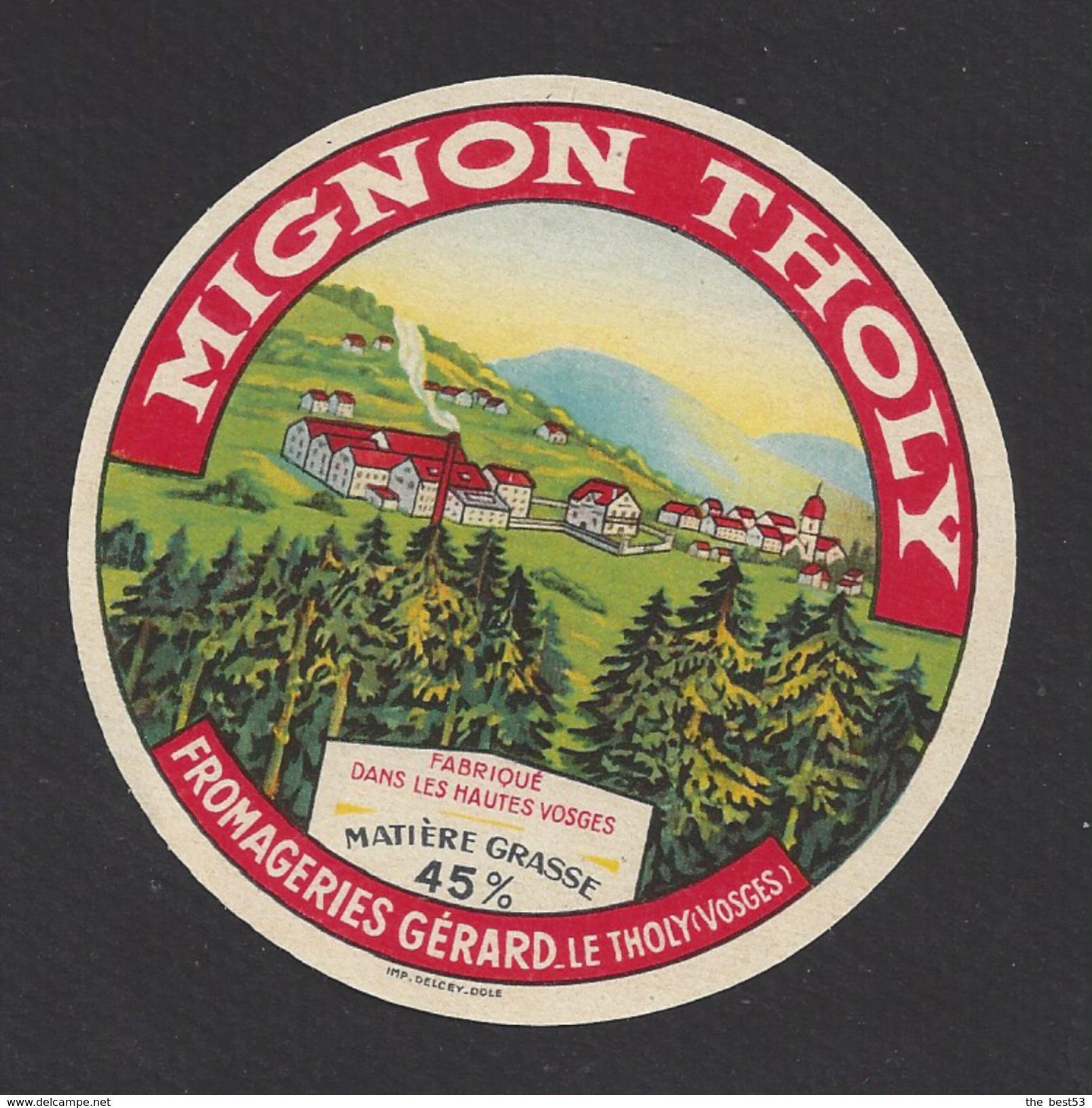 Etiquette De Fromage (petit) -  Mignon Tholy  -  Fromagerie Gérard  à Le Tholy   (88 ) - Fromage