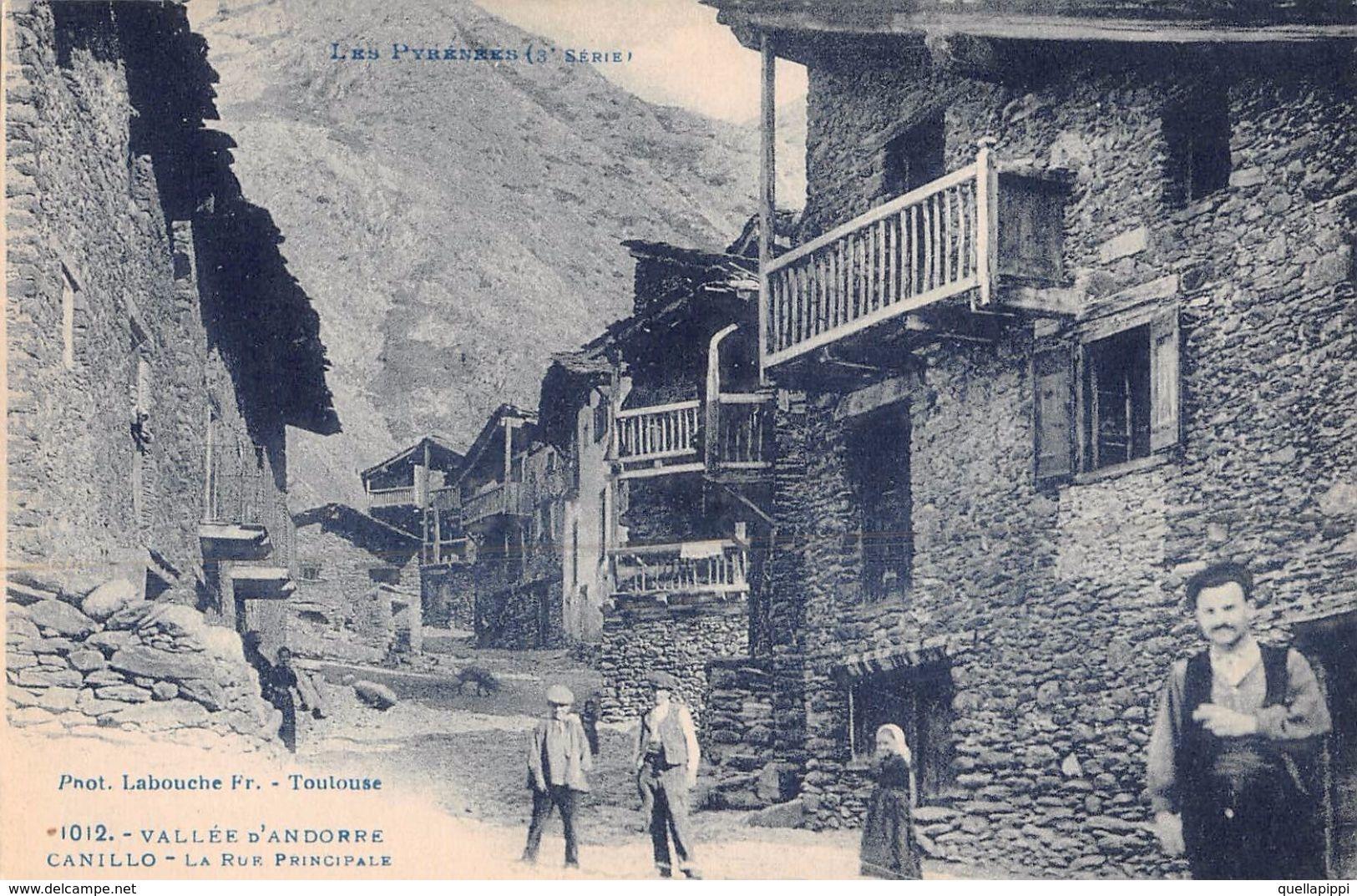 """06748 """"ANDORRA - VALEE D'ANDORRE CANILLO - LA RUF PRINCIPALE""""  ANIMATA, PHOT. LABOUCHE. CART NON SPED - Andorra"""
