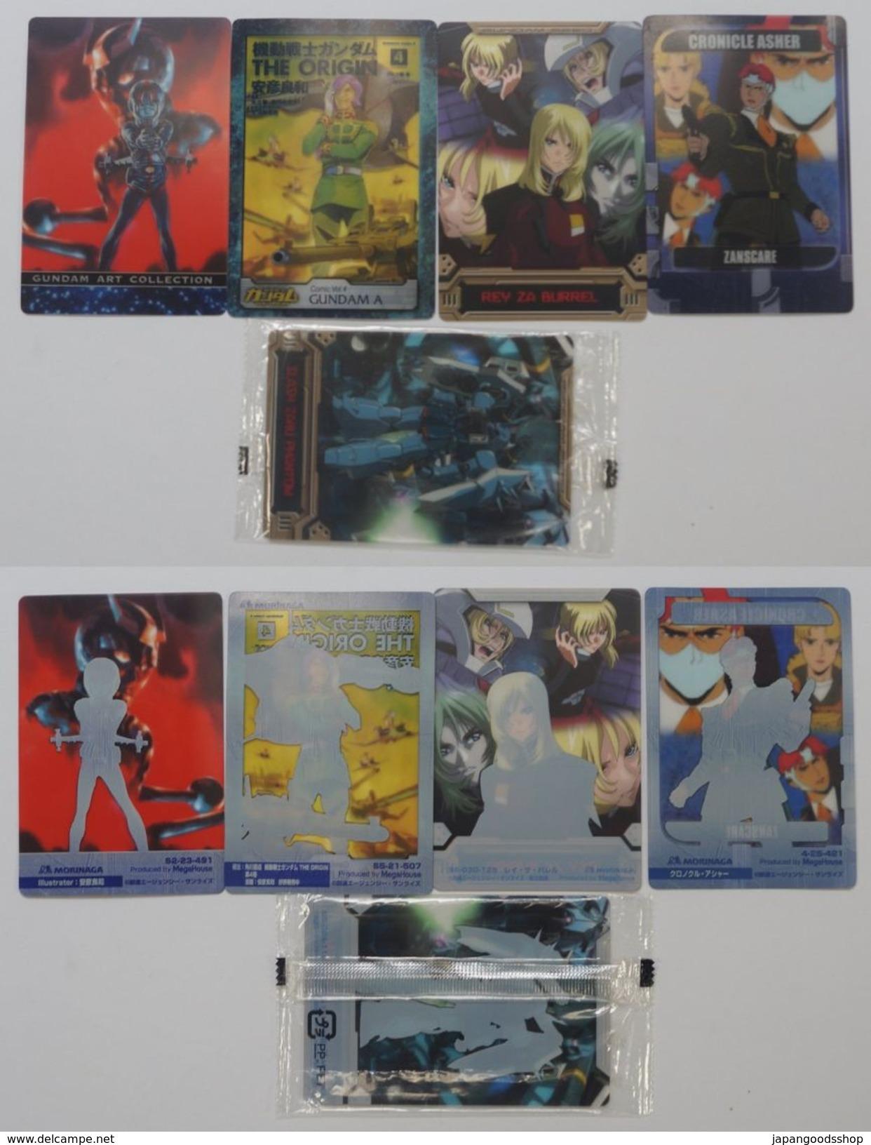 Gundam : 5 Japanese Trading Cards - Trading Cards