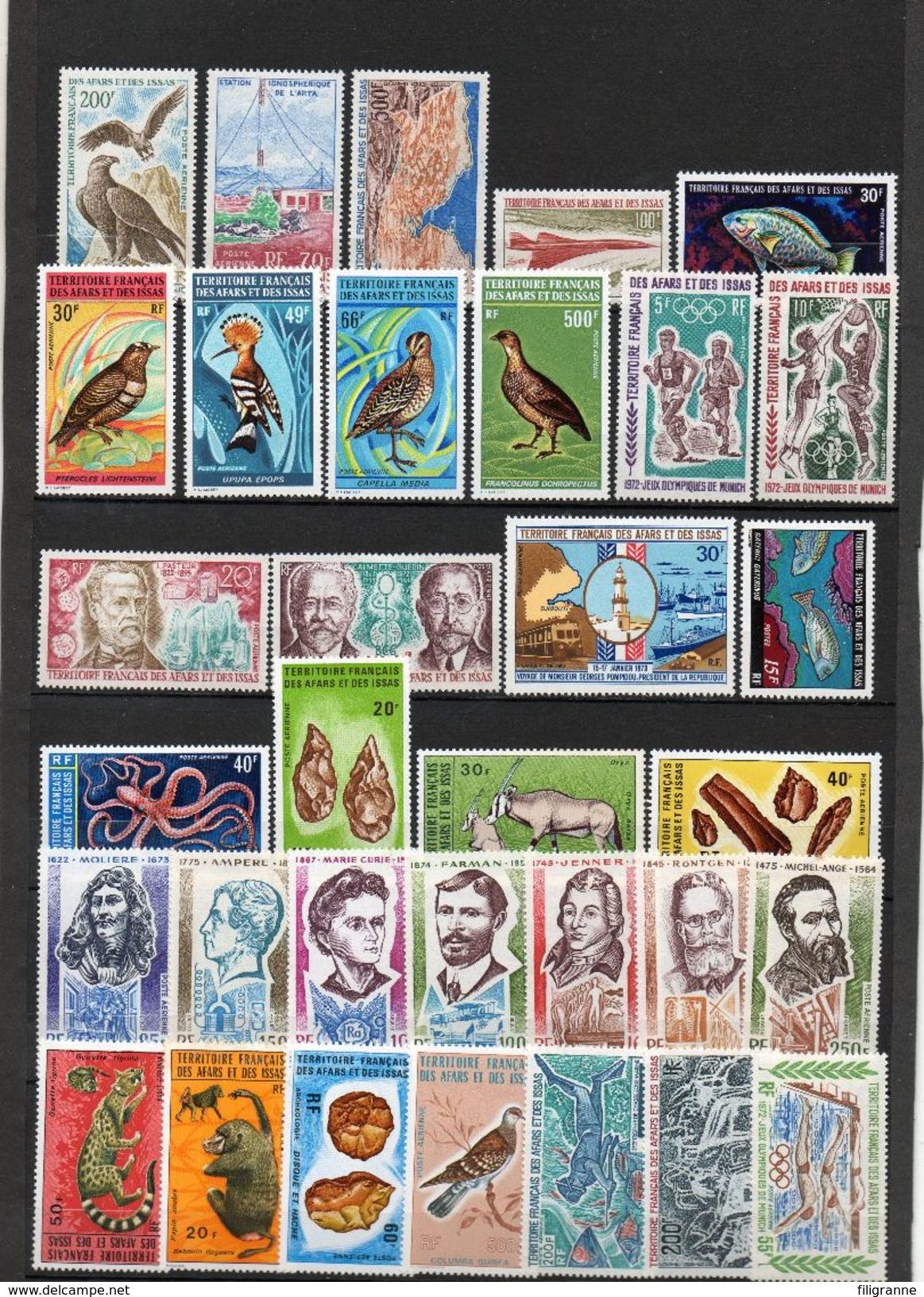 Petit Lot De Timbres Aeriens*/** Cote 330 E Net 40 E - Afars Et Issas (1967-1977)