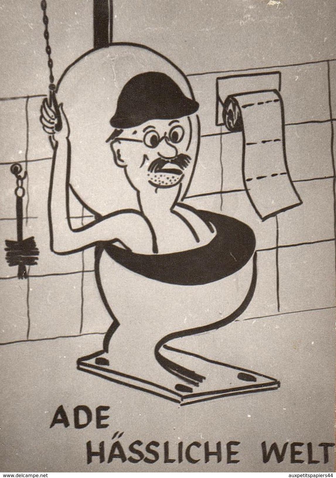Lot De 3 Photo Originale De Dessin Humoristique Et Caricatures Allemandes Vers 1960 - Pipi Caca - 10 X 7 Cm - Pin-ups