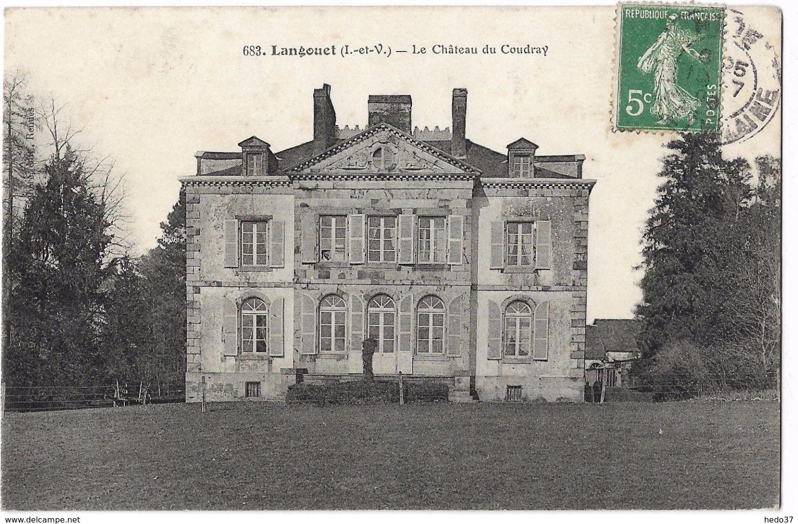 Langouet - Le Château Du Coudray - Autres Communes