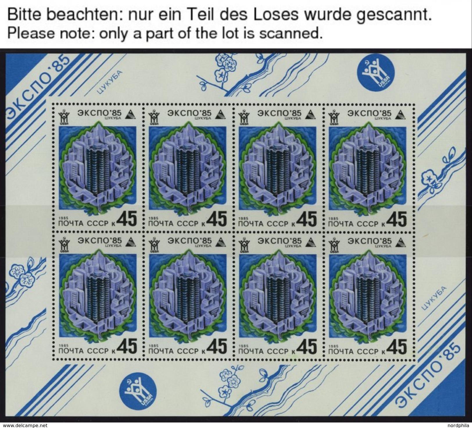 SOWJETUNION 5482-85KB **, 1985, EXPO 85 Tsukuba Im Kleinbogensatz, Pracht, Mi. 85.- - Ohne Zuordnung