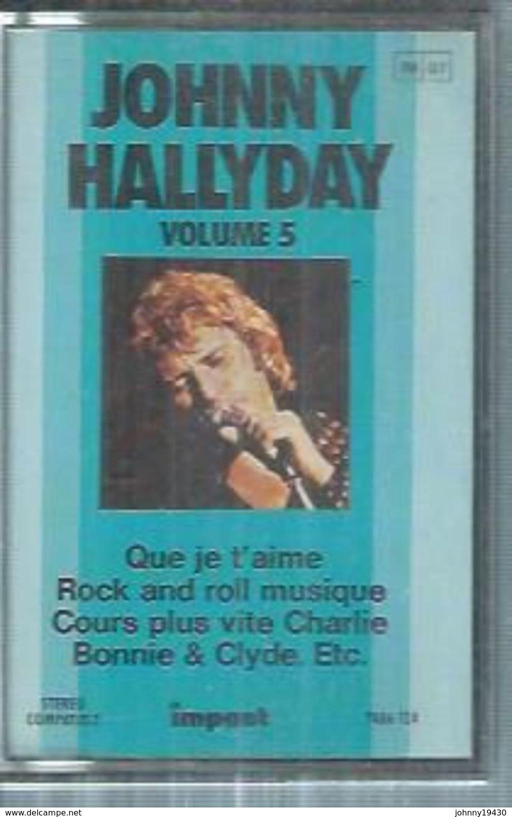 """K7 Audio - JOHNNY HALLYDAY """" QUE JE T'AIME """" 12 TITRES - Cassettes Audio"""